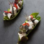 Alici marinate, ricotta e germogli di shiso | Marinated anchovies, ricotta cheese and shiso sprouts