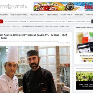Chef Marco Tamagnone Sous Chef con Frabrizio Cadei Chef