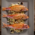 Triglie con cous cous alle verdure | Red mullets with cous cous and vegetables